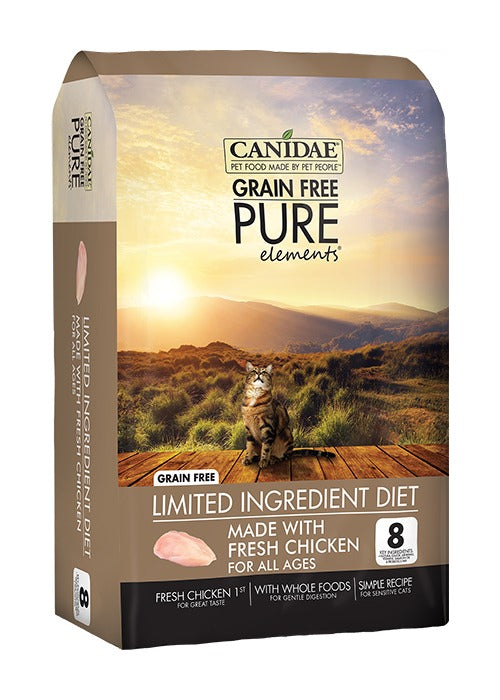 Canidae Grain Free PURE Elements Adult Kitten & Senior Formula Made With Fresh Chicken 10lb
