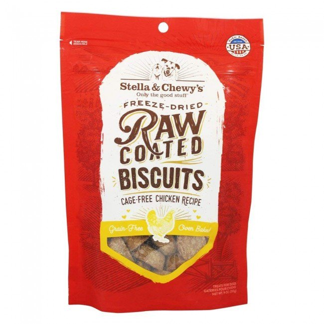 STELLA & CHEWY'S 低温烘焙雞肉曲奇 Raw Coated Biscuits 9oz-Cage Free Chicken