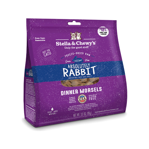 18oz STELLA & CHEWY'S Freeze Dried Dinner Morsels for Cats - Absolute Rabbit