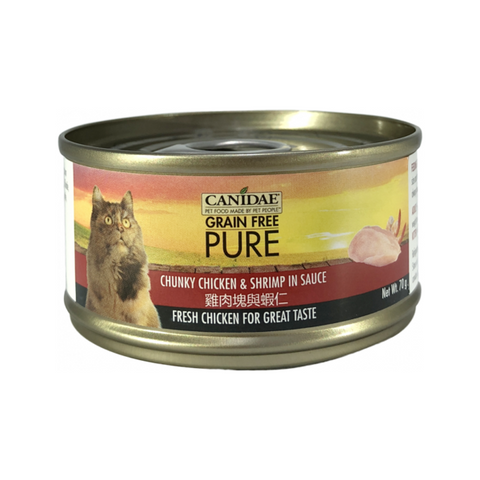 Canidae PURE Cat Can Chunky Chicken & Shrimp in Sauce 70g x24