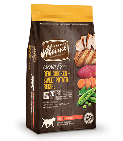 Merrick Grain Free Dog Real Chicken & Sweet Potato Recipe 25lb