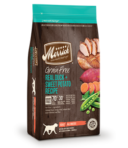 Merrick Grain Free Dog Real Duck & Sweet Potato Recipe 12lb