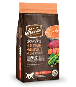 Merrick Grain Free Dog Real Salmon & Sweet Potato Recipe 25lb