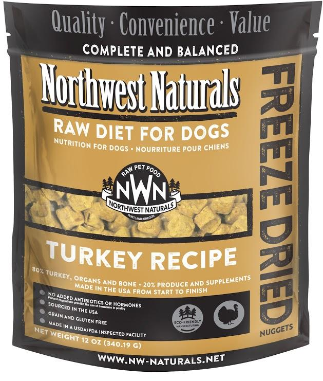 Northwest Naturals For Dog Freeze Dried Turkey 12oz