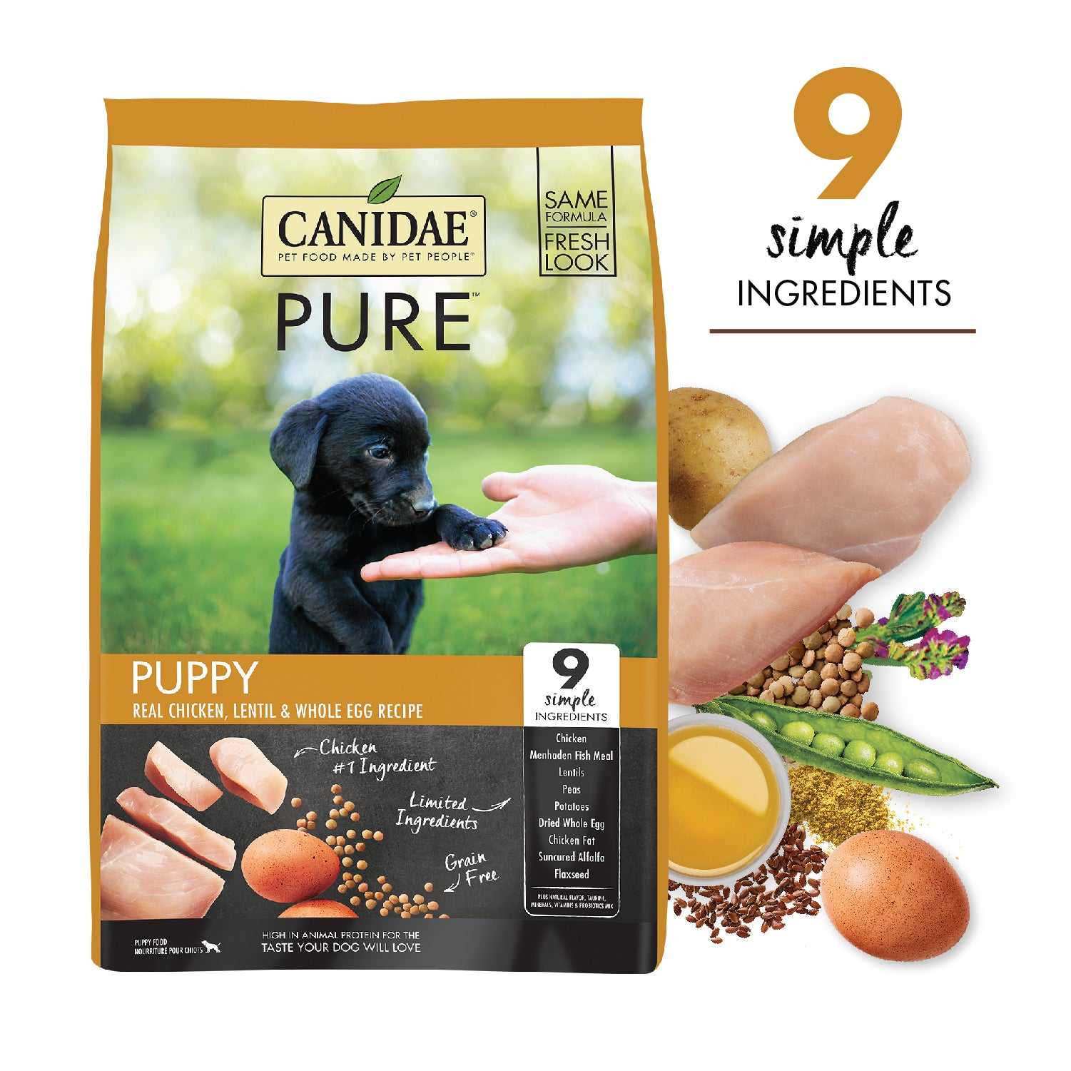 Canidae Grain Free PURE Foundations Puppy Formula Made with Fresh Chicken 12lb