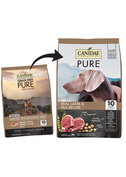 Canidae Grain Free PURE Elements Adult Dog Formula Made with Fresh Lamb 4lb