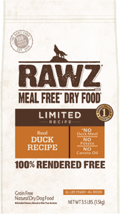 Rawz Limited Ingredient Diet Dog Food - Duck 20lb