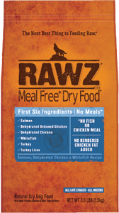 Rawz Meal Free Dog Food - Salmon, Dehydrated Chicken & Whitefish 20lb