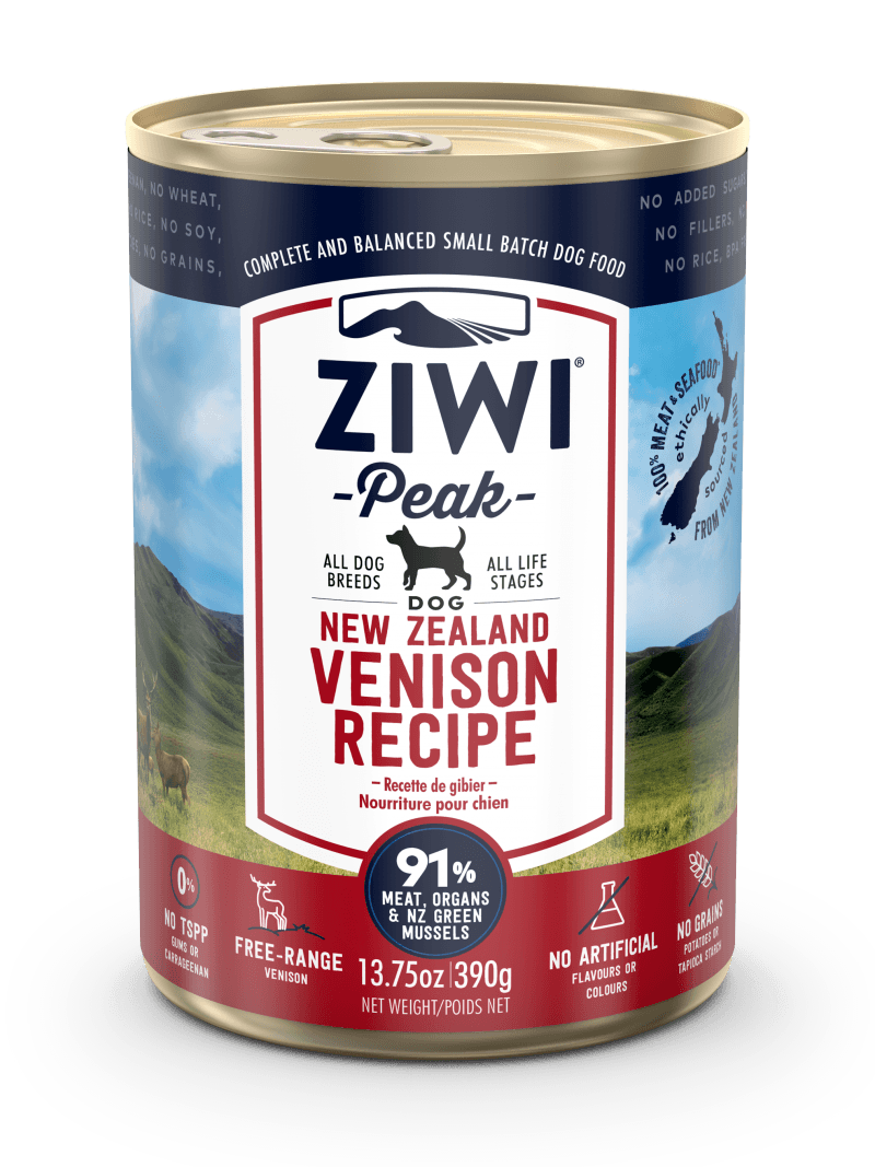 Ziwi Peak Moist VENISON recipe for dog 390g x12