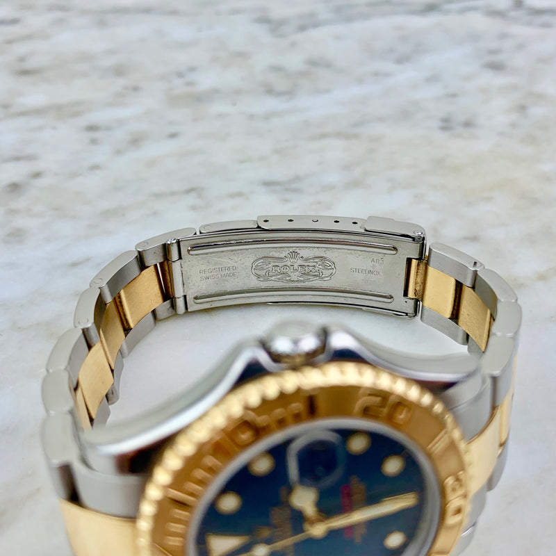 Rolex Stainless Steel and 18K Yacht-Master 35MM Watch