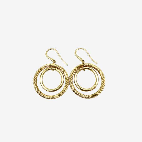 18K Yellow Gold Mobile Drop Earrings