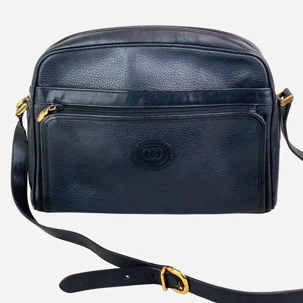 Gucci Black Leather Crossbody Bag