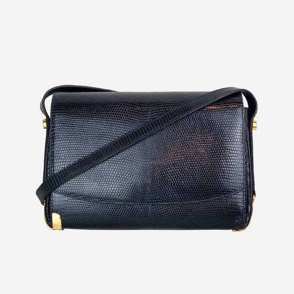 Gucci Lizard Leather Crossbody Bag