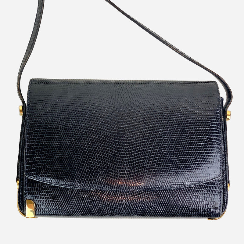 Lizard Leather Crossbody Bag