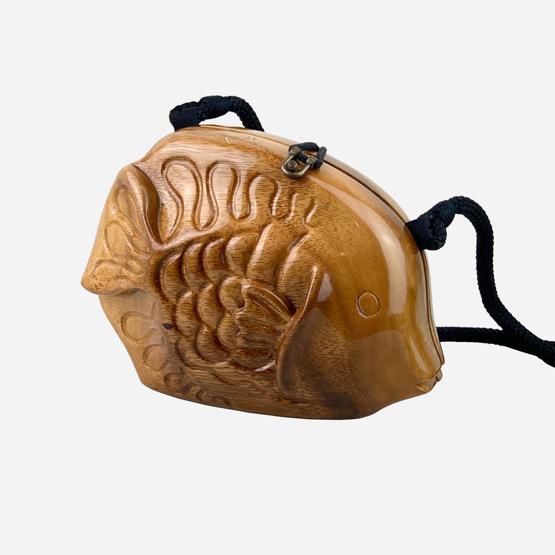 Wooden 'Carved Fish' Crossbody Bag