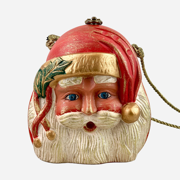 Multicolored Wooden 'Santa Claus' Crossbody Bag