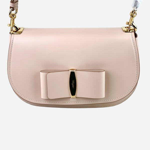 Salvatore Ferragamo Bisque Anna Saddle Crossbody Bag