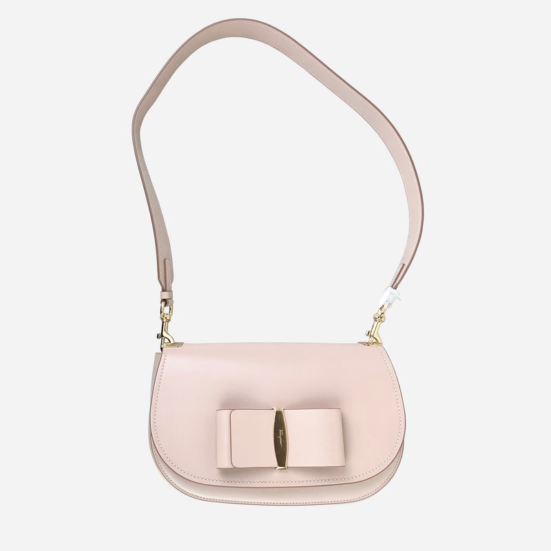 Bisque Anna Saddle Crossbody Bag