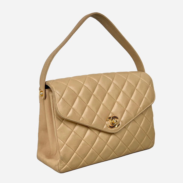 Chanel Tan Quilted Handbag