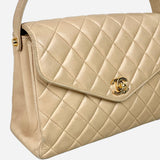 Tan Quilted Handbag