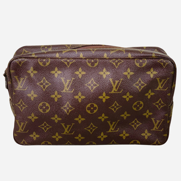 Brown and Tan Monogram Trousse Toilette 28