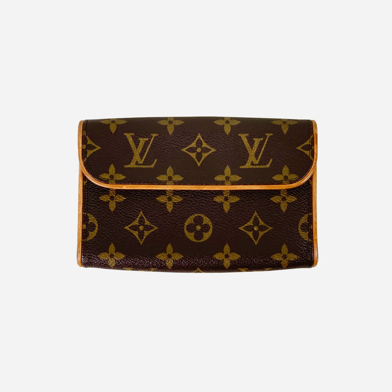 Brown and Tan Monogram Canvas Pochette Florentine Waist Bag
