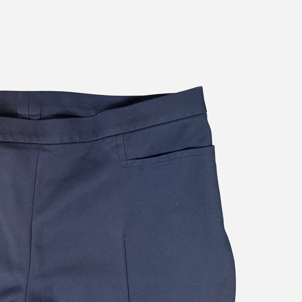 Navy-Blue Straight-Legged Pants