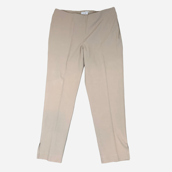 Khaki Straight-Legged Pants