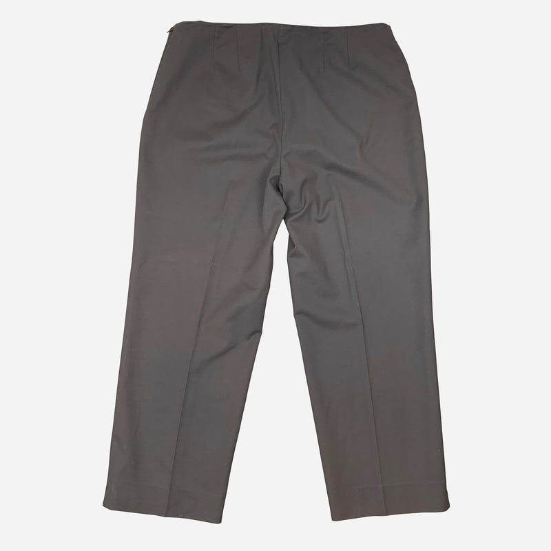 Slate Gray Straight-Legged Pants