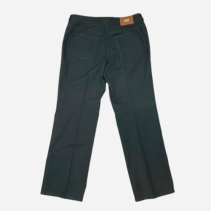 Dark-Green Straight-Legged Jeans