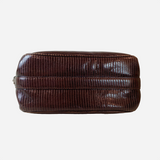 Brown Lizard Leather Shoulder Bag