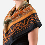 Multicolored Cashmere and Silk 'Early America' Scarf