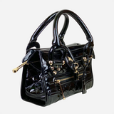 Black Patent Leather Small Manor Handbag