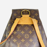 Brown and Tan Monogram Montsouris MM