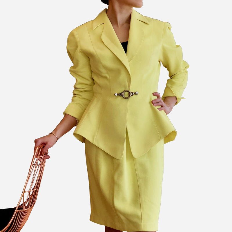Yellow Skirt Suit