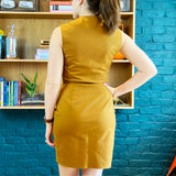 Tan Sleeveless Short Dress