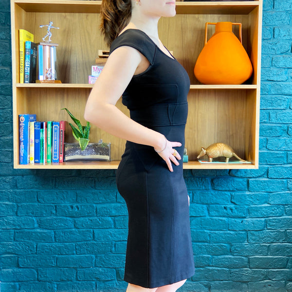 Black Knee-Length Dress