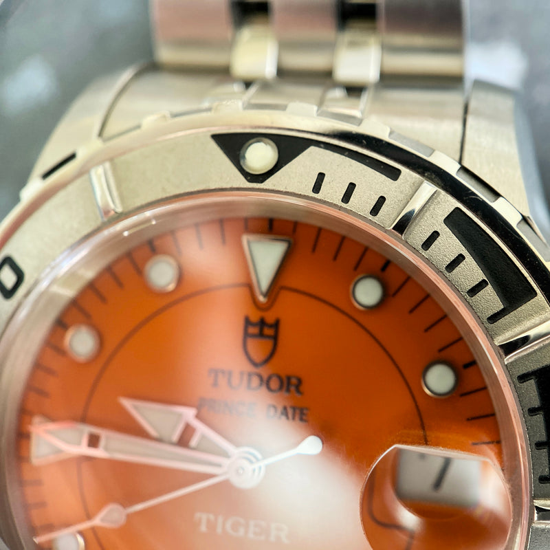 Stainless Steel Prince Date Tiger Watch