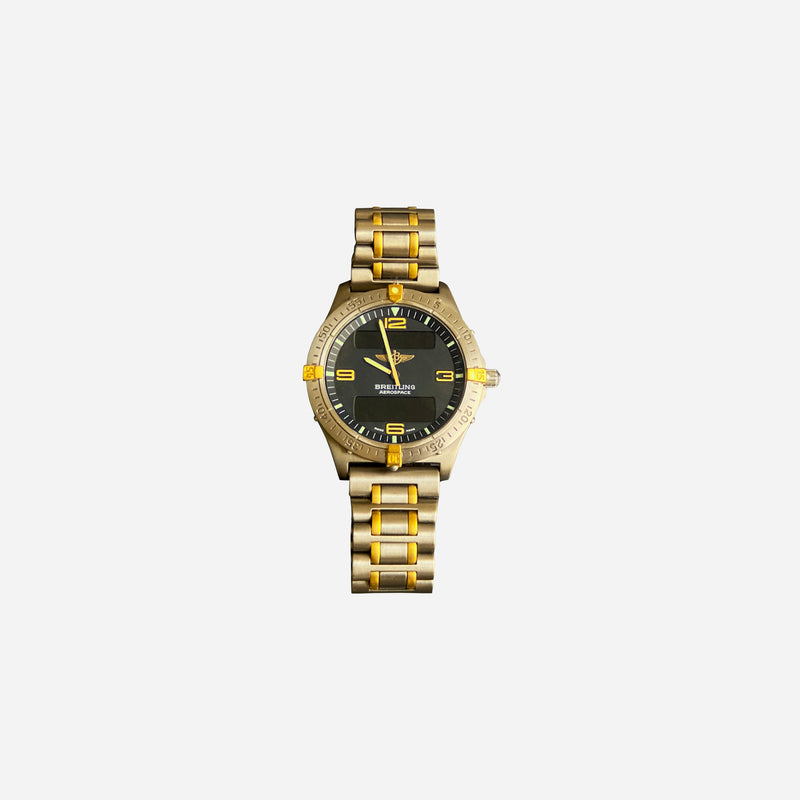 Titanium and 18K Yellow Gold Aerospace Watch