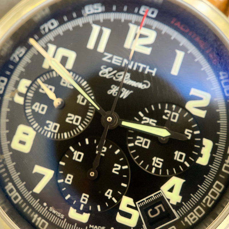 Stainless Steel El Primero Chronograph Watch