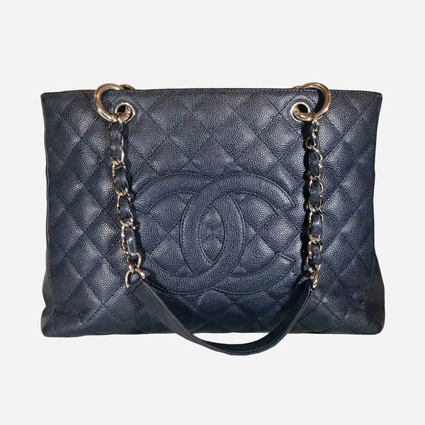 Chanel Blue Caviar Grand Shopping Tote