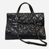 Black Caviar Chic Shopping Tote