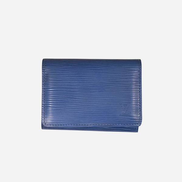 Blue Epi Leather Business Cardholder