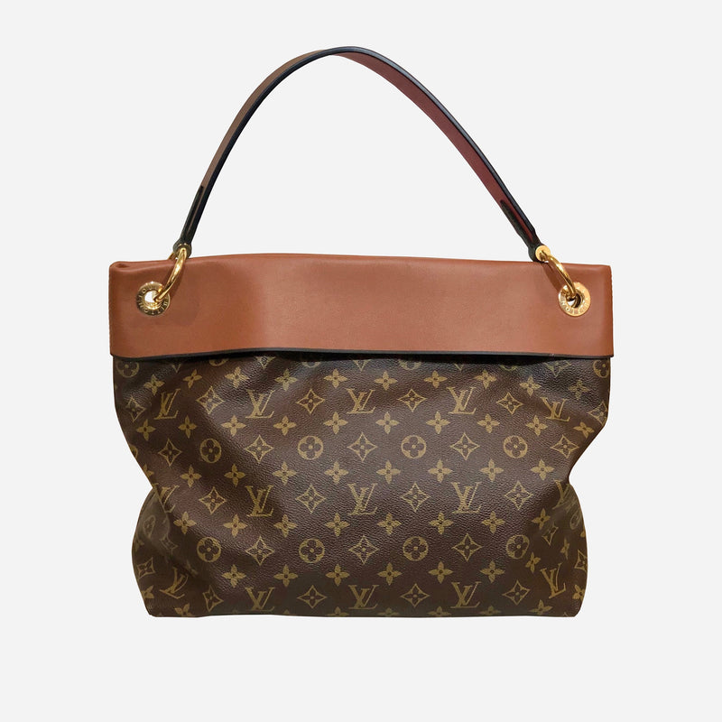 Brown and Tan Monogram Canvas Tuileries Hobo Bag