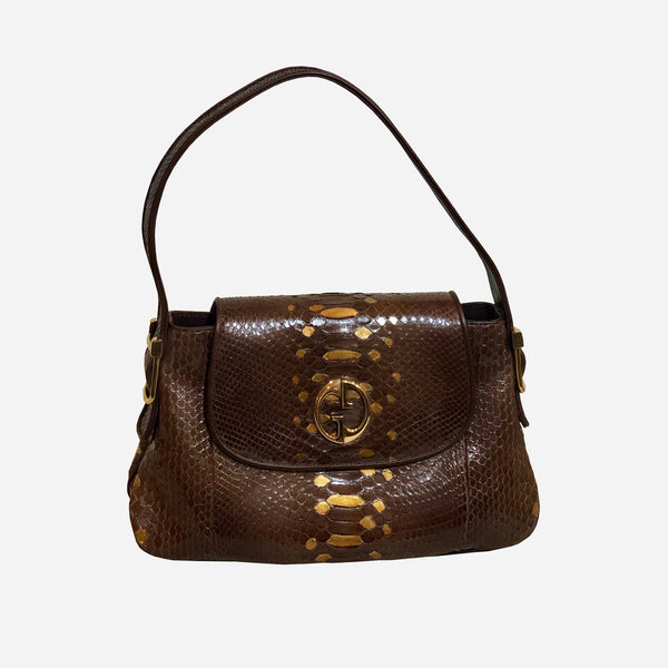 Brown Python 1973 Shoulder Bag