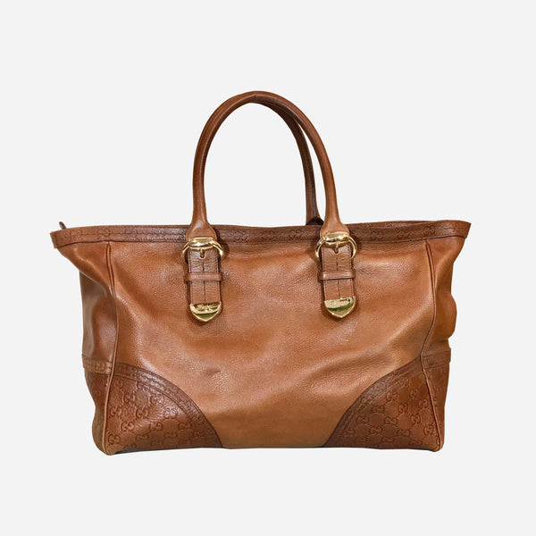 Brown Leather Medium Signoria tote