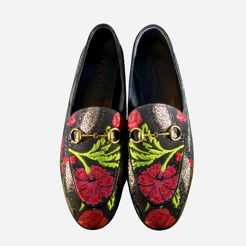 Gucci Horsebit Floral Brocade Loafers