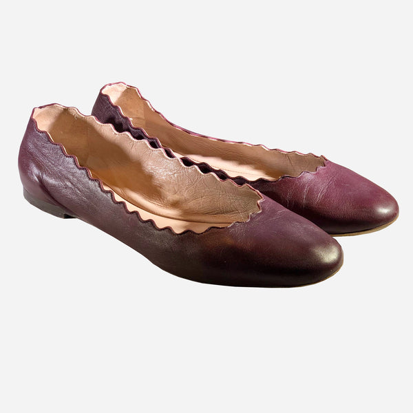 Oxblood Lauren Flats