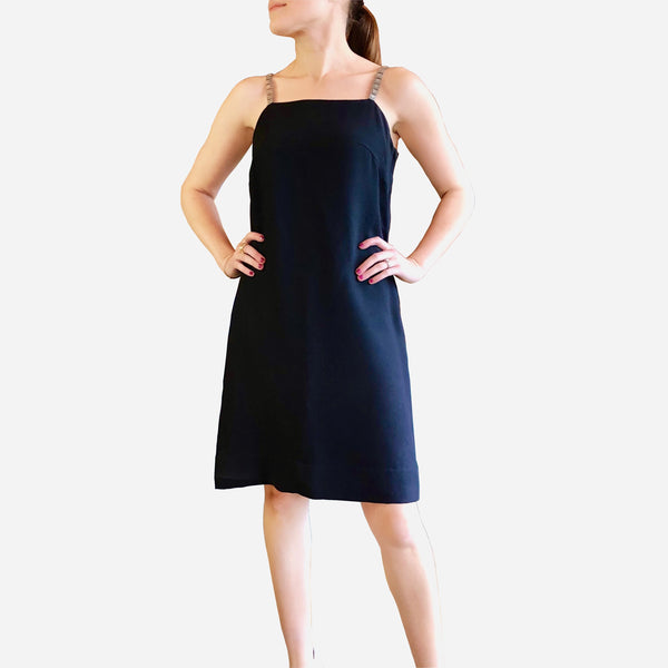Vintage Felix Safian Black Sleeveless Cocktail Dress