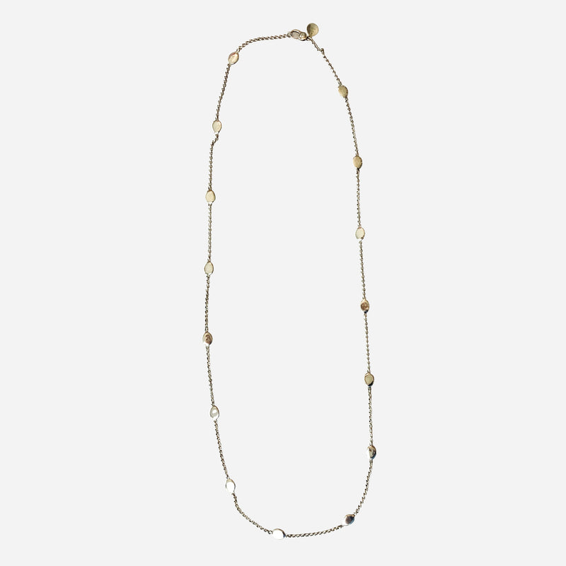 Sterling Silver Pebble Chain Necklace